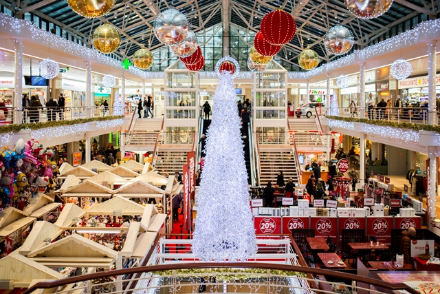 christmas decorations mall