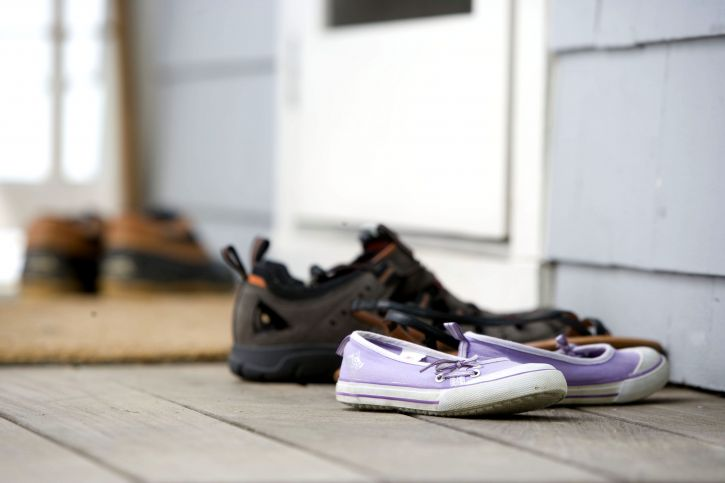 shoes on front porch