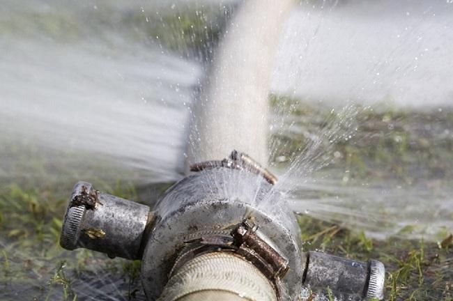 fix burst pipe
