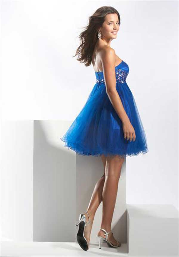 homecoming mini blue dress