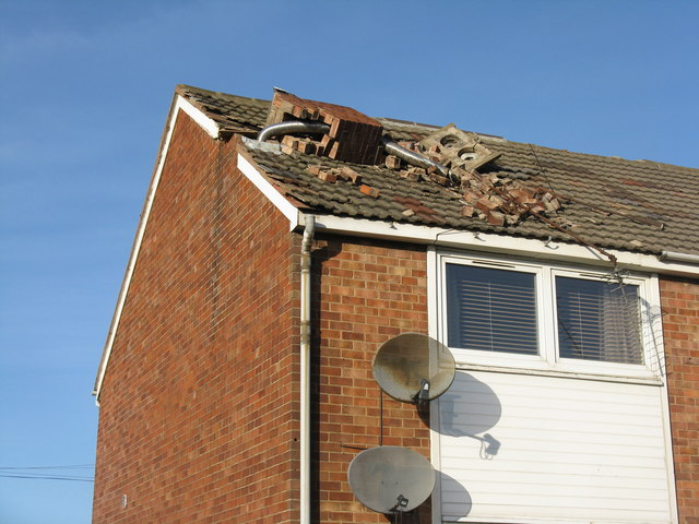 repairing storm damage home