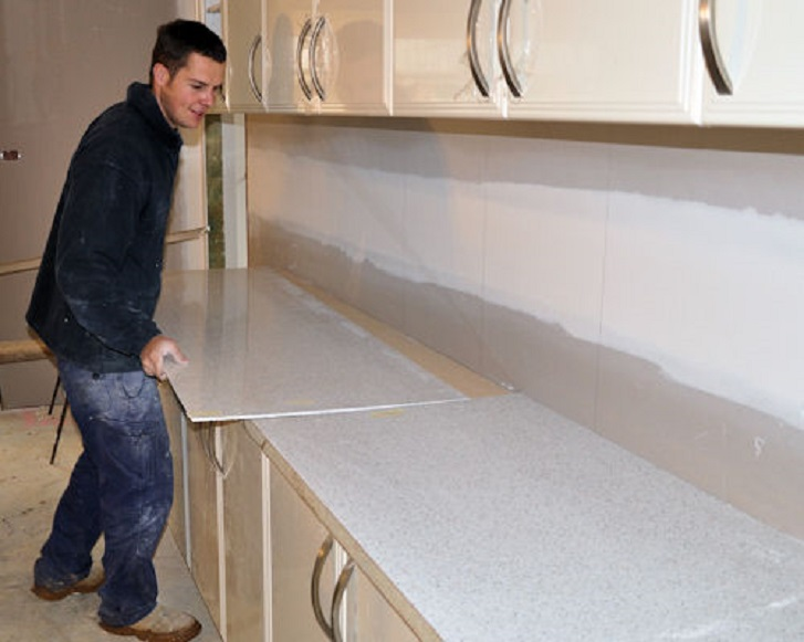 installing marble benchtops