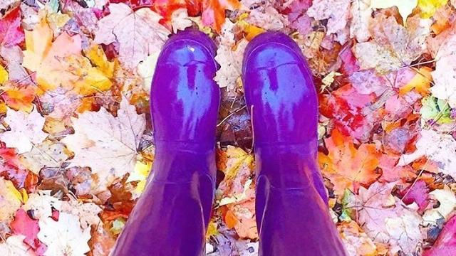"""It's still so """"fall"""" outside…loving it! 🍁🍂🍃"""
