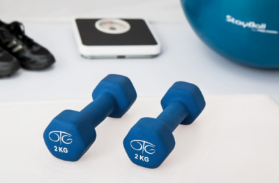 Gym Embarrassment lightweight dumbbells