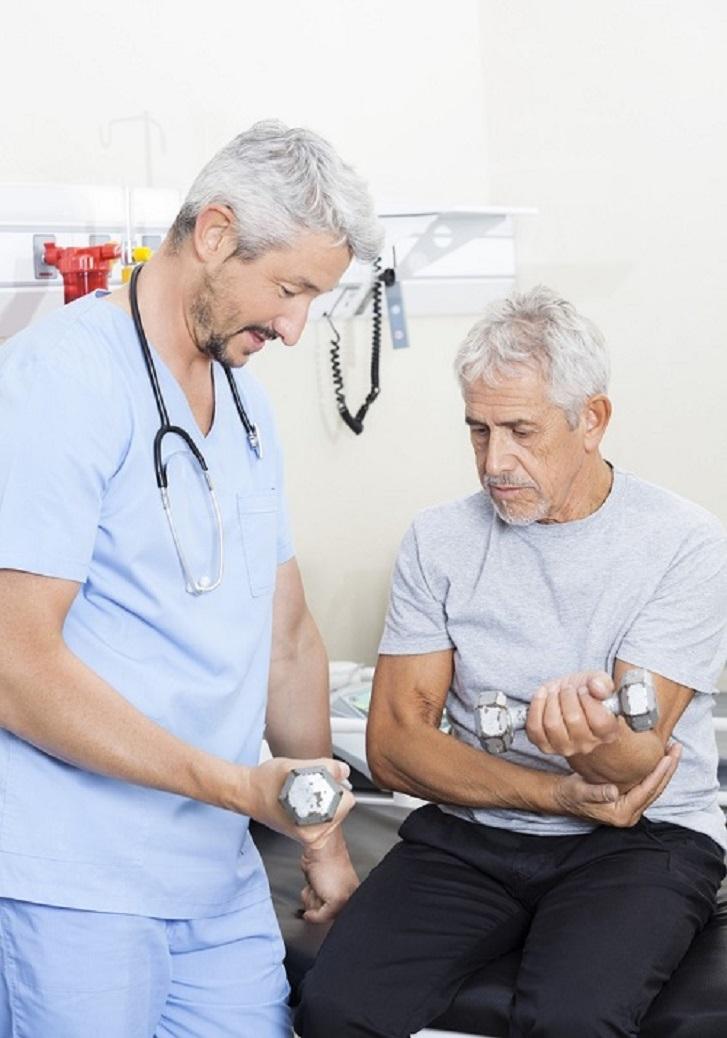 Physiotherapist elbow pain