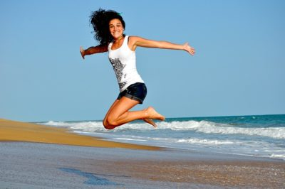 Feeling Energized and jumping in the air