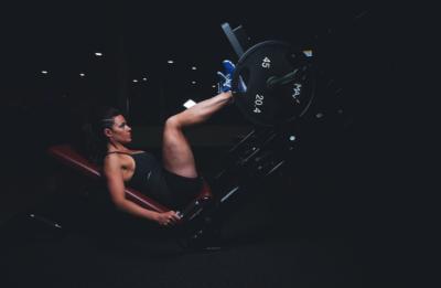 workout burn upright leg press
