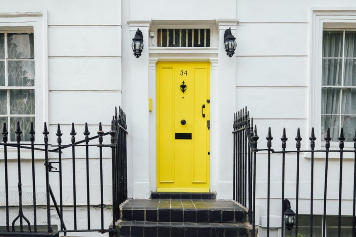 Protect Your Home From Intruders yellow front door