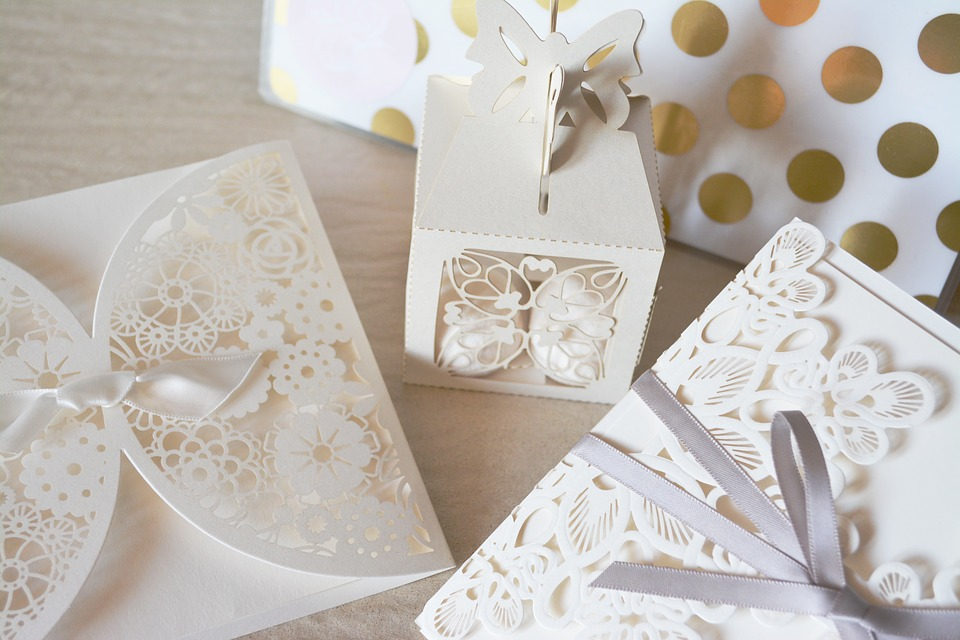 Wedding Season invite and favors cut-outs