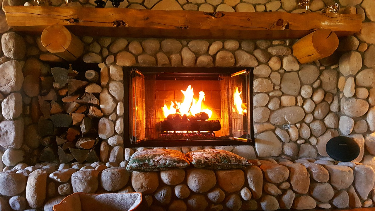 Home Decoration stone fireplace