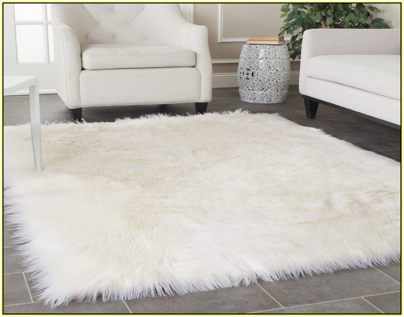 Little Luxuries white fur flooring