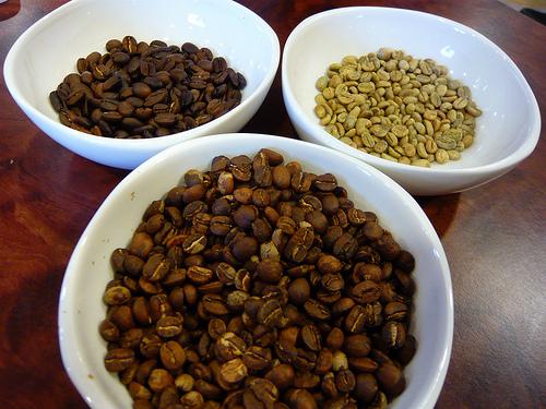coffee beans assortment array