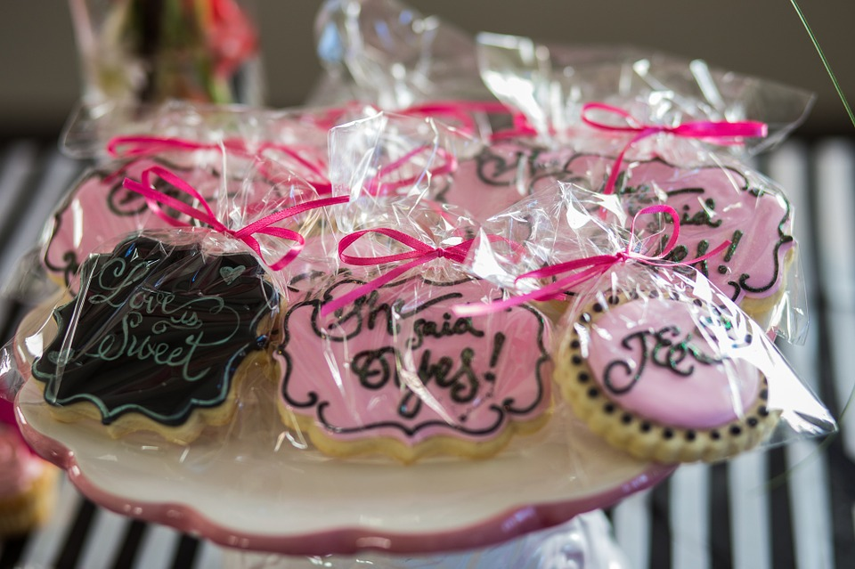 Wedding Season baked cookie favors