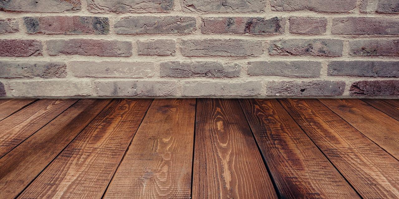 Home Decoration grey brick meets wood flooring