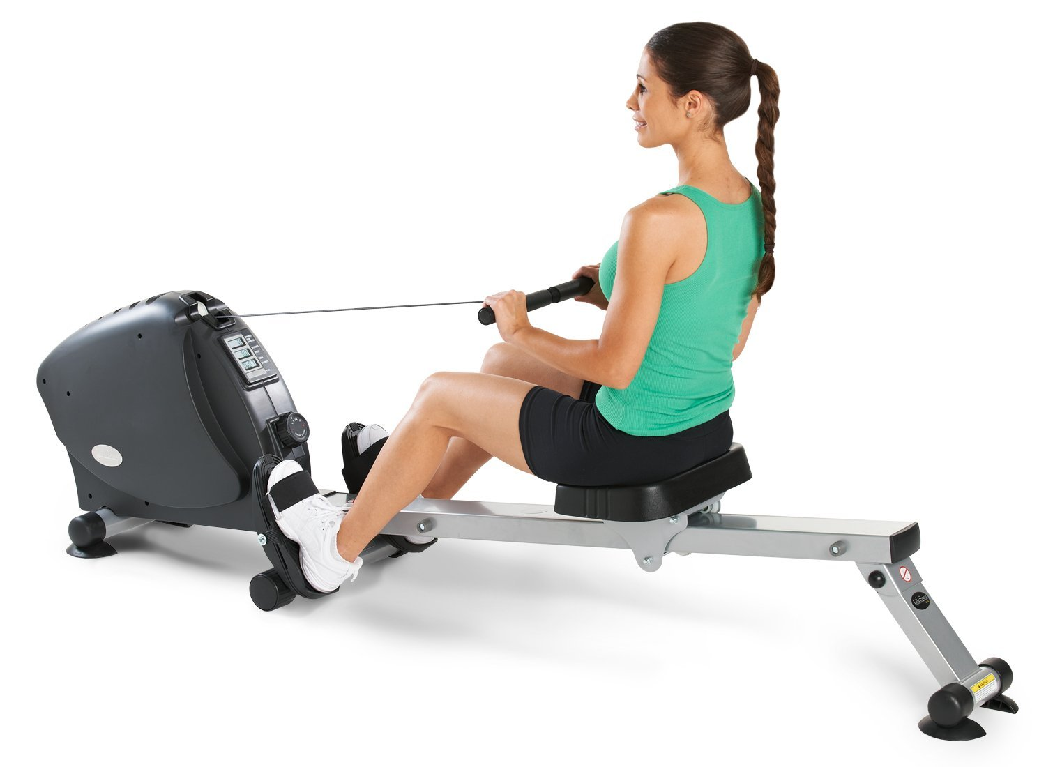 workout gear woman rowing machine