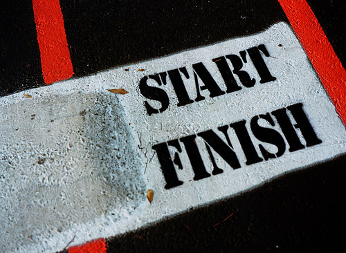 Reaching Goals start and finish line