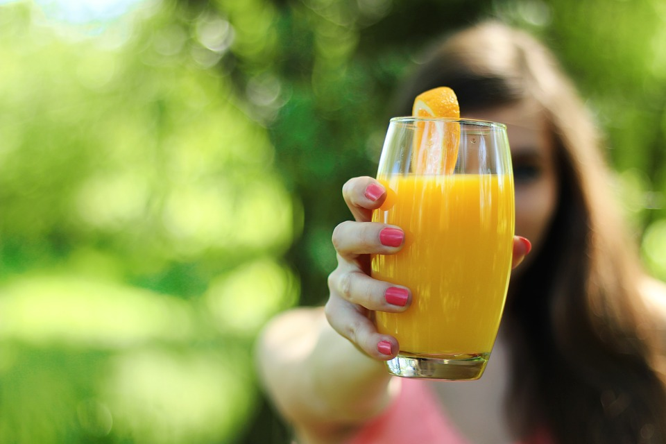 Feel Great This New Year orange juice