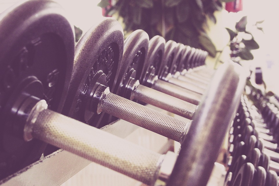 Fitness Goals barbell weights lined up