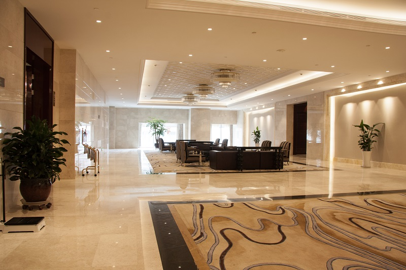 Hospitality Lighting in hotel lobby