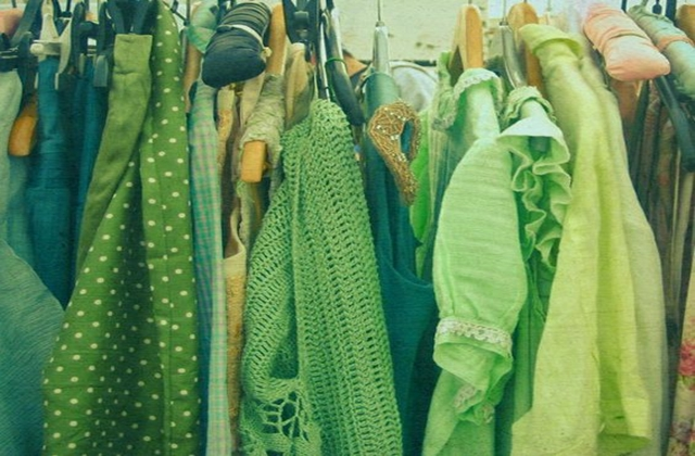 Green organic recycled fashion clothes