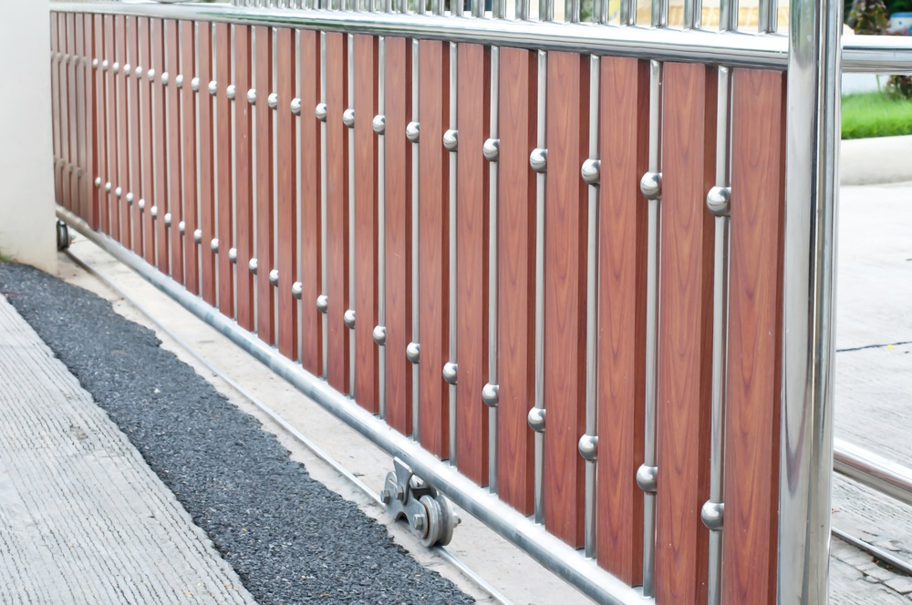 Automated Sliding Gates brown gates