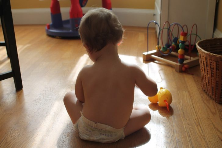 Child Proof Your Home baby playing