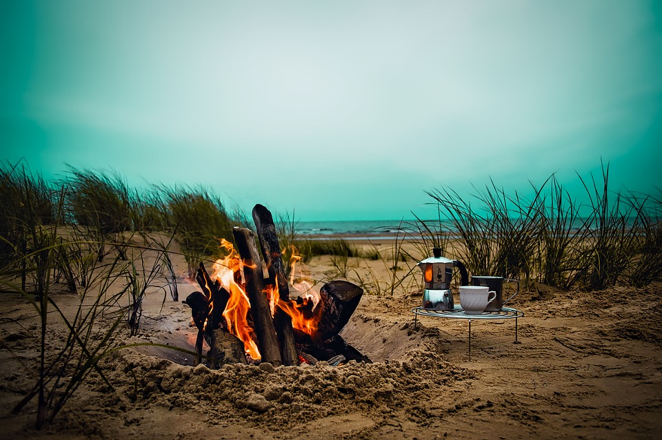 How to Camp and Actually Enjoy It outside on the sand