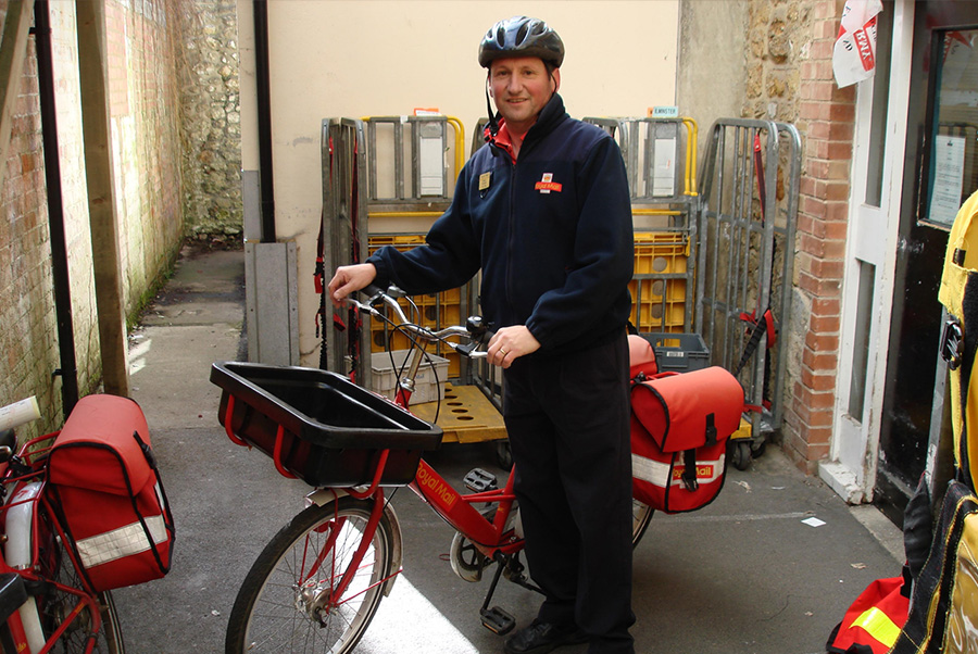 Safe Delivery courier mail on bike