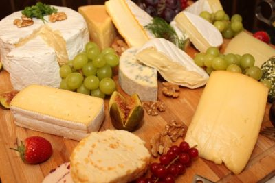 Food Hacks cheese platter on wood tray