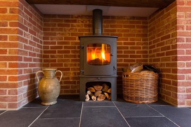 Wood Fireplace black furnace