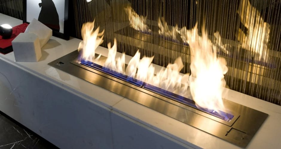 Electric Fireplace flames coming from block