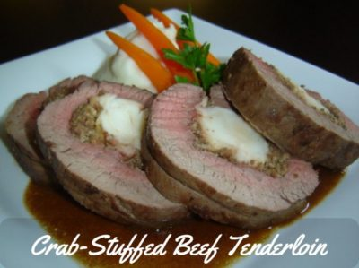 Beef Tenderloin Recipe crab stuffed