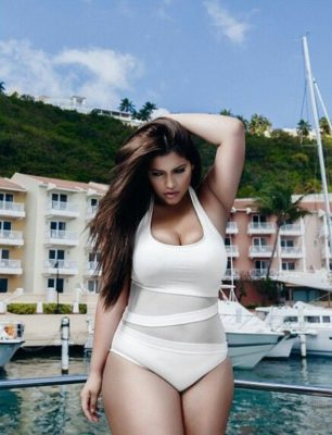 Fashion Trends woman in plus size bathing suit