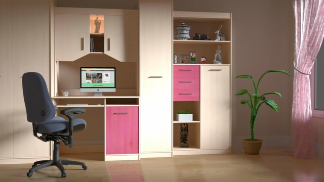 Teenager's Bedroom cubby holes and space savers