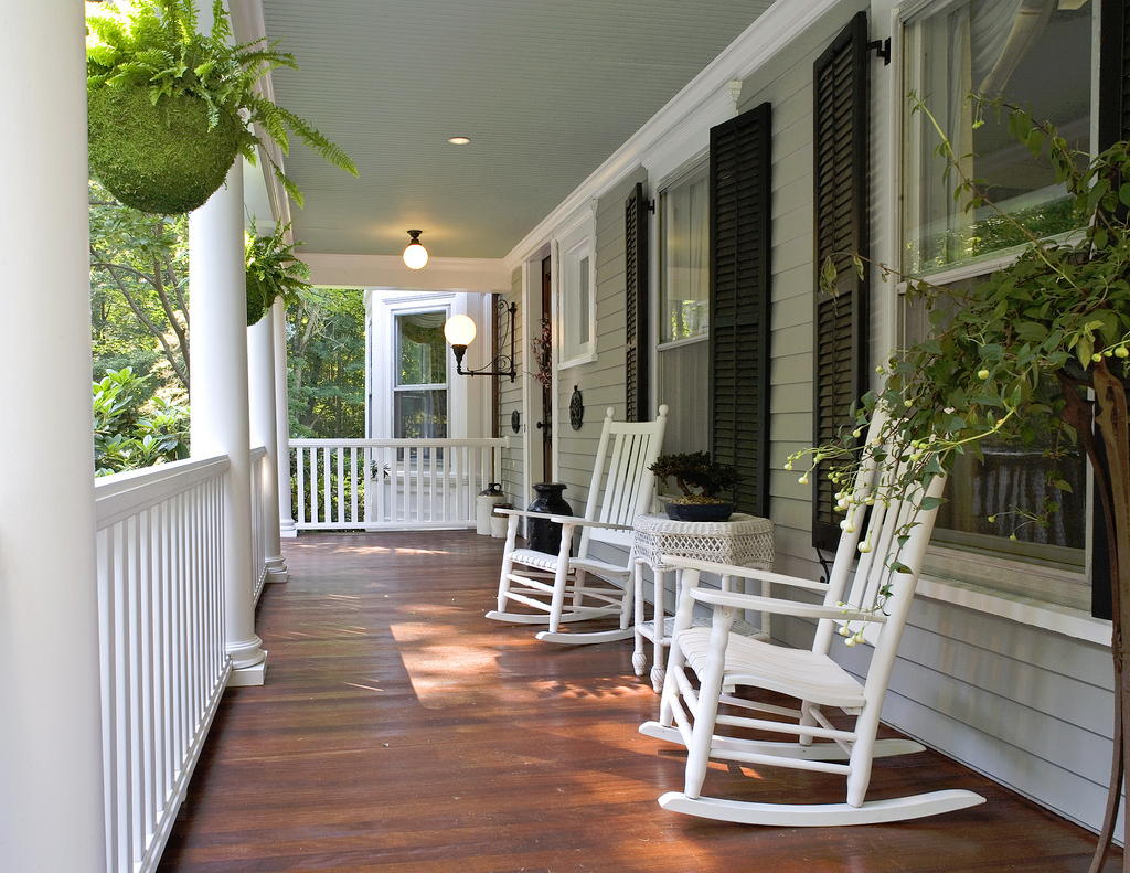 Entryway country porch outdoor chairs