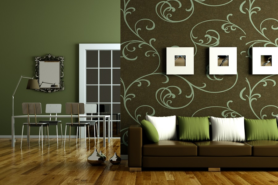 Home Decor green living room