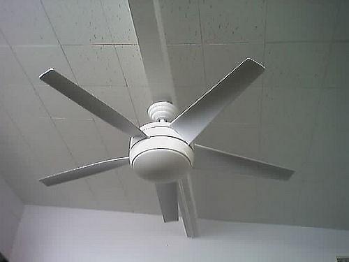 Bedroom ceiling fan white