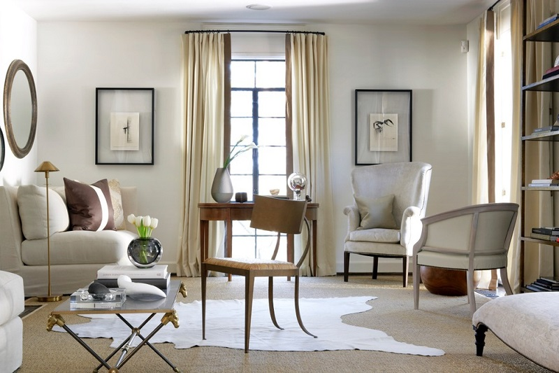 Home Decor white themed living area