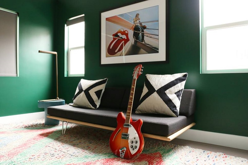 Home Decor guitar and couch