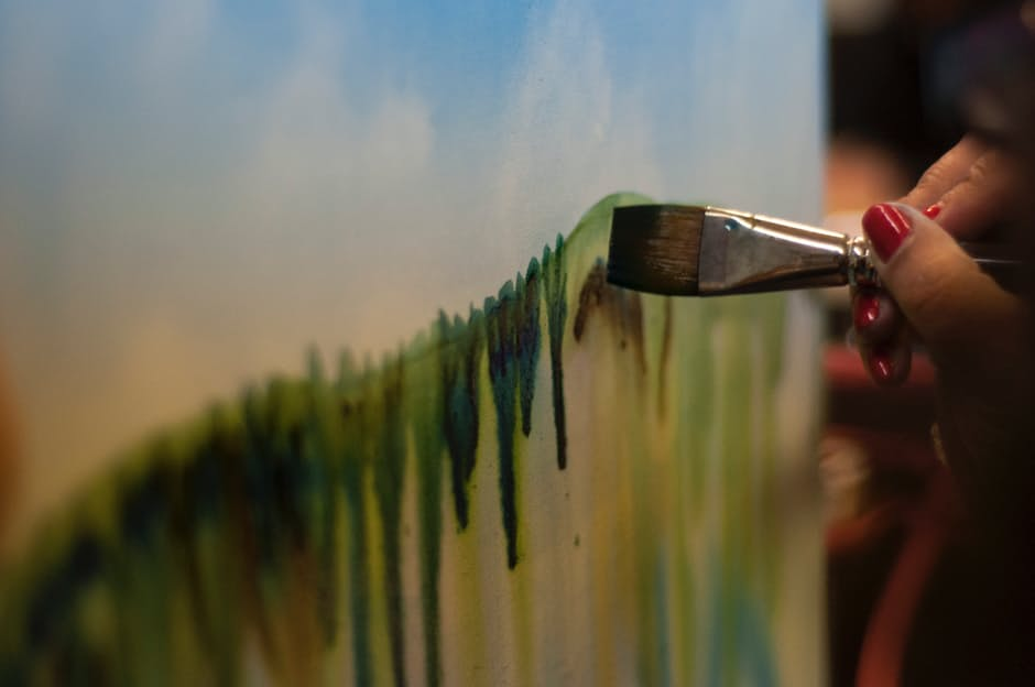 life in order paintbrush on wall painting