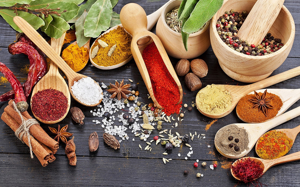 Ayurveda spices and herbs