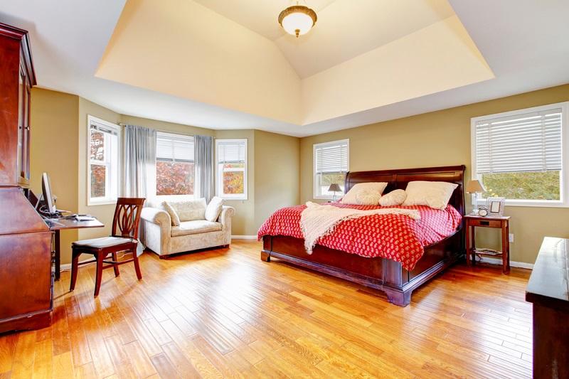 Flooring wood hardwood in the bedroom