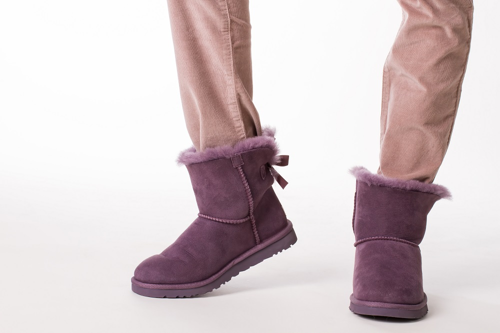 Ugg Boots tucked in and wearing pants
