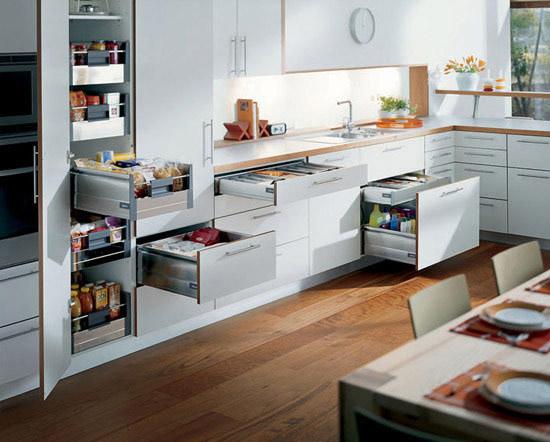 Kitchen Design wood floor layout