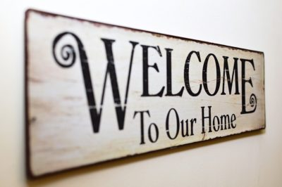 home décor welcome to our home