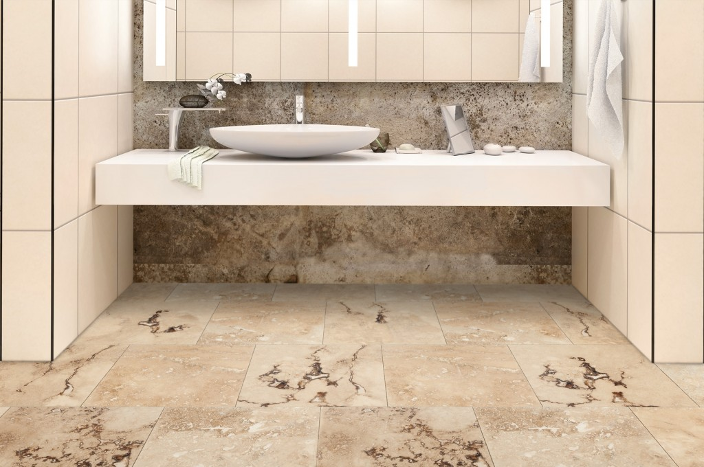 stone flooring travertine bathroom
