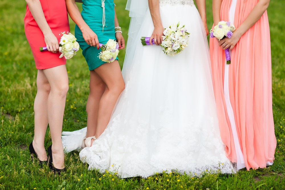 Wedding bouquets for entire party