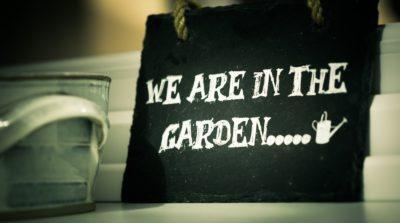 spring clean garden sign