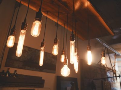 history of lighting and hanging lights