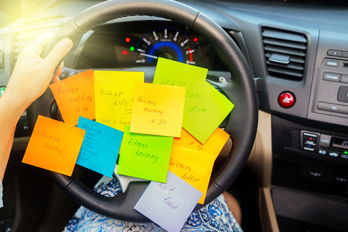 Cooking Tips for sticky notes on steering wheel